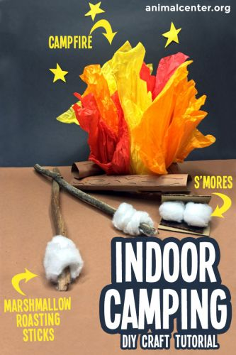 Indoor Camping Craft for Kids