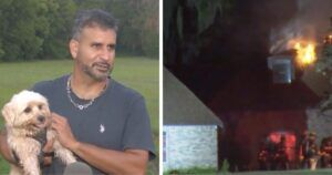 Dog Alerts Sleeping Dad In Time For Both To Escape Burning Home