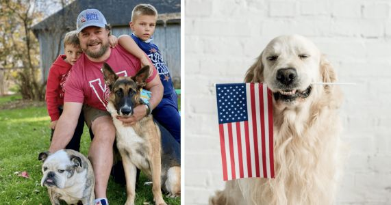 Marine Trains Rescue Dogs To Support All Veterans