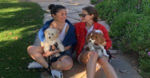 Selena Gomez and Pup Attend Birthday Pawty
