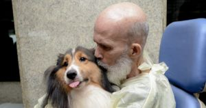 Cancer Patient's Health Improves After Visit From His Dog