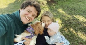 Bindi Irwin's Baby And Dog Named Piggy Are Adorable Cuddle Buddies