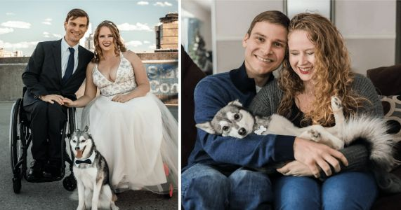 Dog Runs Away Only Minutes Before His Parents' Wedding