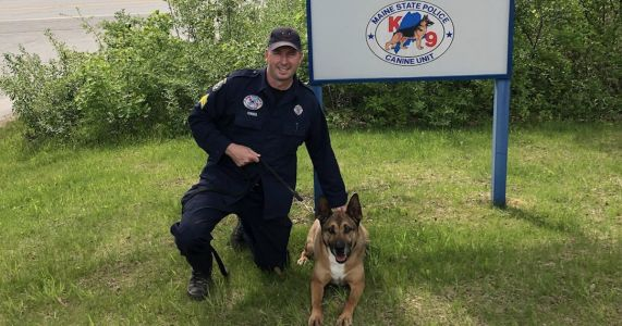 Family, Friends & Fellow Officers Say Goodbye To Rescued Police K9